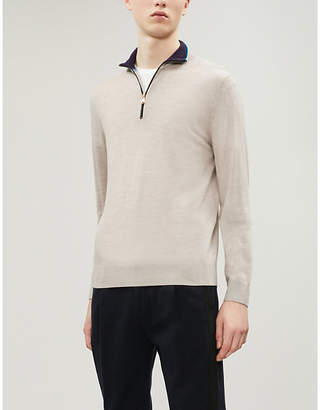 Paul Smith Half-zip wool jumper
