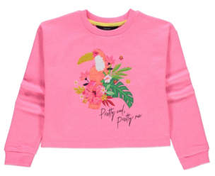 George Pink Sequin Tropical Sweatshirt