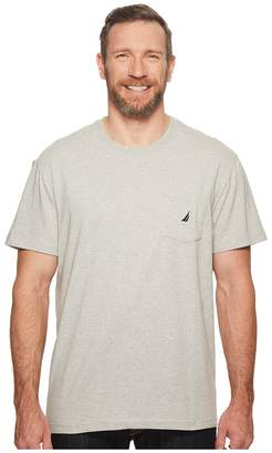 Nautica Big Tall Short Sleeve Anchor Pocket Tee Men's Short Sleeve Button Up