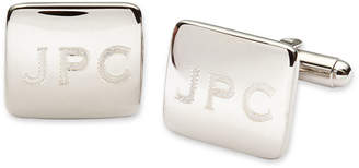 Asstd National Brand Personalized Polished Rounded Rectangle Cuff Links