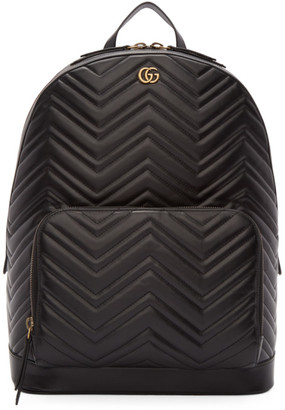 78960699f Gucci Black Quilted GG Marmont Backpack