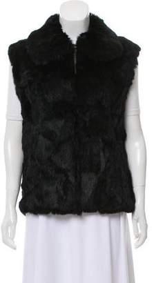 Saks Fifth Avenue Collared Fur Vest