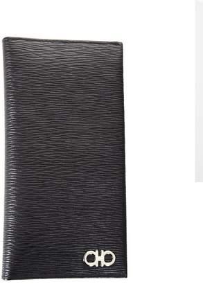 Salvatore Ferragamo Black Revival Breast Pocket Wallet