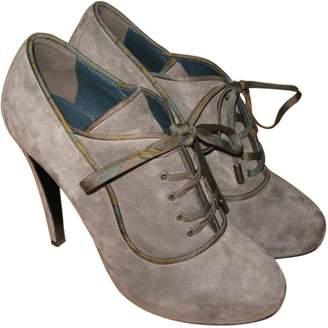 99bc477de167 Grey Suede High Boots - ShopStyle UK