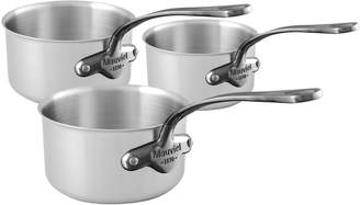 Mauviel 1830 391050 M'Urban Onyx And Brushed Stainless Steel Saucepans Set Of 3