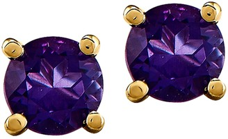 14K Semi-Precious Round Gemstone St ud Earrings