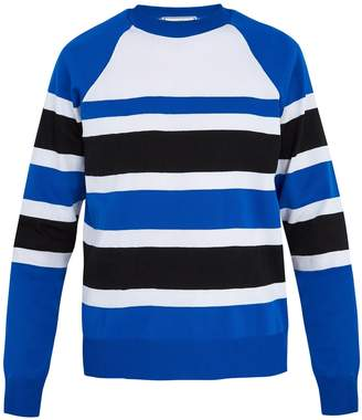Ami Crew-neck striped jersey sweater