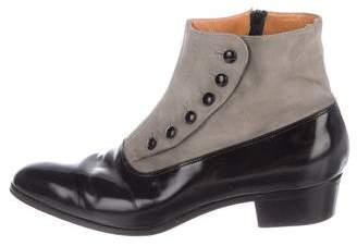 Ralph Lauren Colorblock Leather Ankle Boots