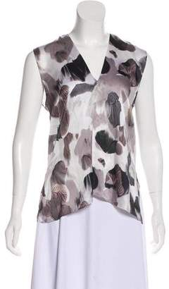 Helmut Lang Sleeveless Silk Blouse