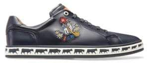Bally Animal Anistern Leather Low-Top Sneakers