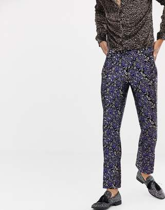 Twisted Tailor super skinny suit pant in floral jacquard