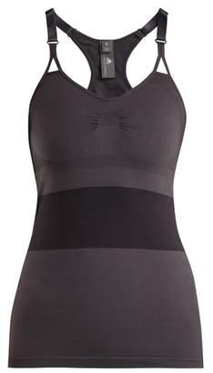 Adidas By Stella Mccartney - Striped Panel Performance Tank Top - Womens - Grey