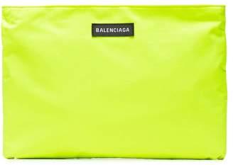 Balenciaga Yellow Neon Explorer Logo Pouch