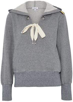 Splendid Lace-Up Cotton-Blend Terry Hooded Sweatshirt