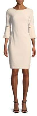 Calvin Klein Beaded Cutout Ponte Sheath Dress