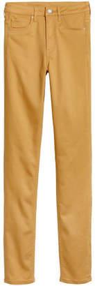 H&M Skinny High Waist Jeggings - Yellow
