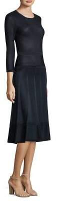 Agnona Three-Quarter Sleeve Dress