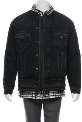 Balenciaga Layered Quilted Denim Jacket