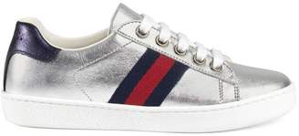 Gucci Children's leather low-top with Web