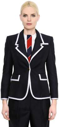 Thom Browne Wide Lapel Wool & Mohair Jacket