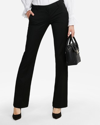 Express Low Rise Straight Flare Columnist Pant
