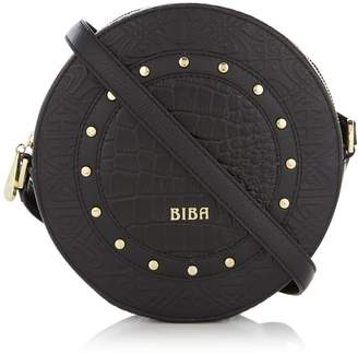 Biba Stud Circle Crossbody Leather Bag