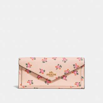 Coach Soft Wallet With Floral Bloom Print
