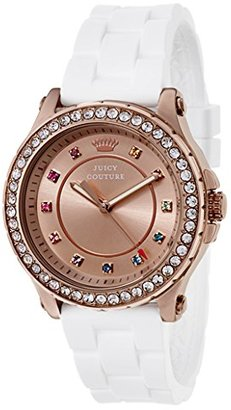 Juicy Couture Women's 1901240 Pedigree Analog Display Quartz White Watch $92 thestylecure.com