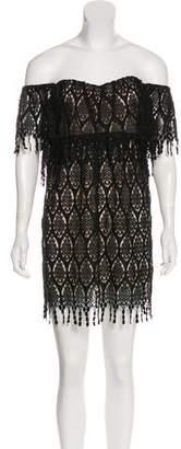 Stone_Cold_Fox Stone Cold Fox Crochet Lace Mini Dress