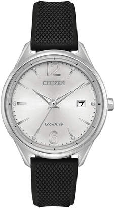 Citizen Eco-Drive Women's Black Silicone Strap Watch 36mm