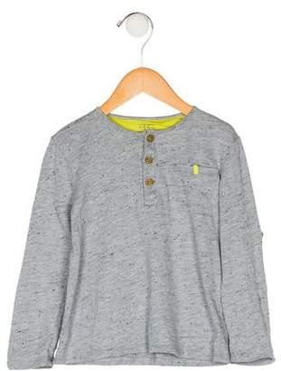Egg Boys' Slub Knit Henley Shirt