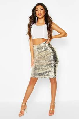 boohoo Sequin Midi Skirt