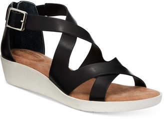 Giani Bernini Fayee Memory Foam Wedge Sandals, Created for Macy's