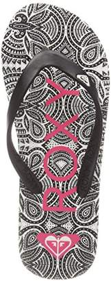 Roxy Girls' Tahiti Vi Flip Flops, (Black/Pink BBP), 11.5UK Child