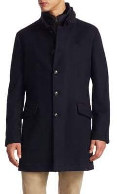 Saks Fifth Avenue COLLECTION Long Button Topcoat