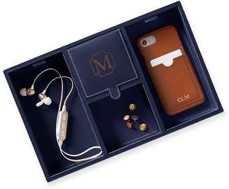 Mark And Graham Rustic Leather Tech Catchall
