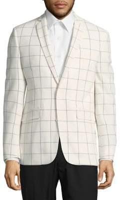 Windowpane Suit Blazer