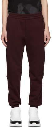 Alexander McQueen Red Jogger Lounge Pants