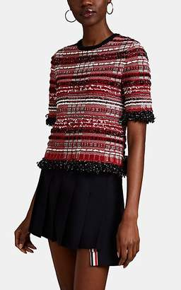 Thom Browne Women's Checked Tweed Top - Red