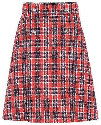 Gucci Checked tweed miniskirt