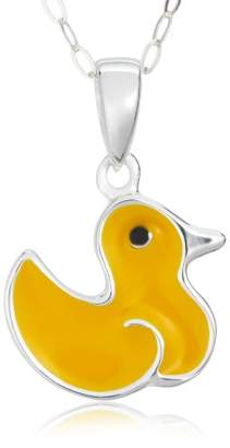 Jo for Girls Yellow Enamel Duck Pendant