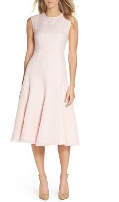 Eliza J Fringe Hem A-Line Dress (Regular & Petite)