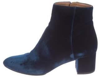 Aquazzura Velvet Ankle Booties