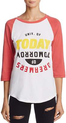 University of Today, Dreamers of Tomorrow Graphic Baseball Tee - 100% Exclusive