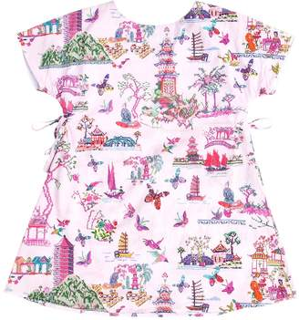 Papergirl Collection Pagoda Cotton Dress - Light/Pastel Pink, Size 5-6y