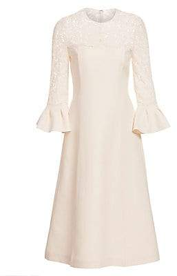 Valentino Women's Lace Bell Sleeve Wool & Silk A-Line Dress