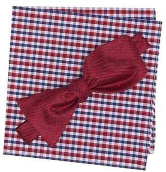 BROLETTO Farris Dot Bow Tie & Pocket Square Set