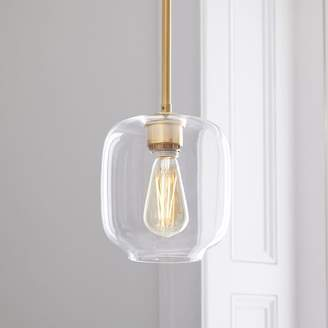west elm Sculptural Glass Pebble Pendant - Small (Clear)