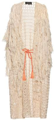 Tabula Rasa - Idris Fringed Knit Cover Up - Womens - Multi