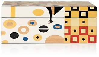 Ercolano Abstract-Pattern Wooden Jewelry Box